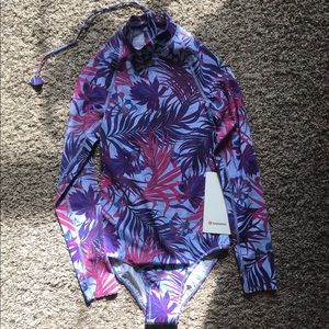 Lululemon will the wave LS med one piece swimsuit